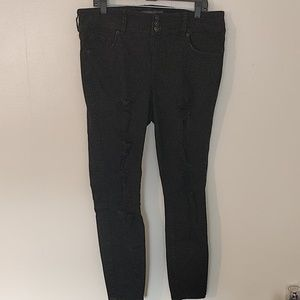 Torrid Black Destructed Jeggings